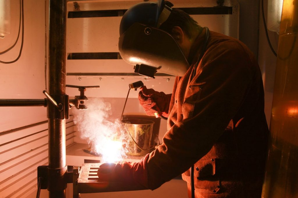 Teenager Welding